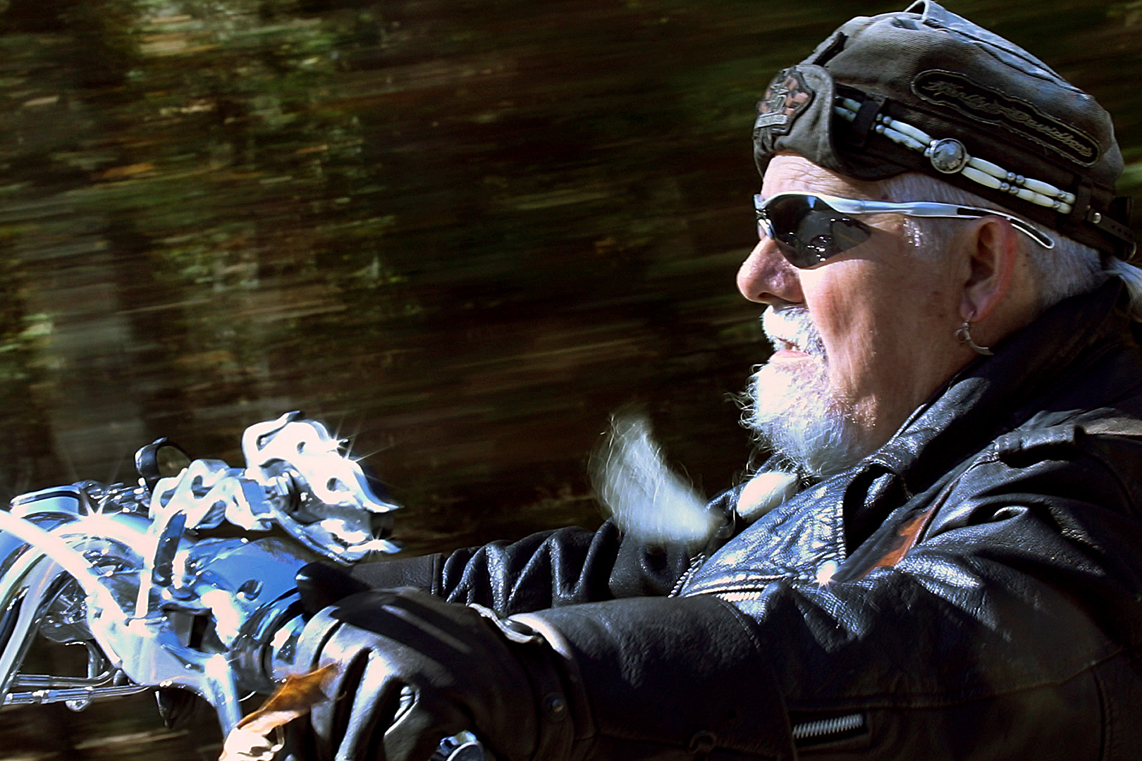 After a hard life, Dennis Lawrence founded Free Spirit Biker Church where people like him feel welcome.